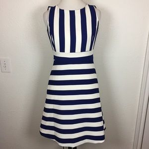 Ann Taylor Royal Blue Striped Dress size 00 Petite